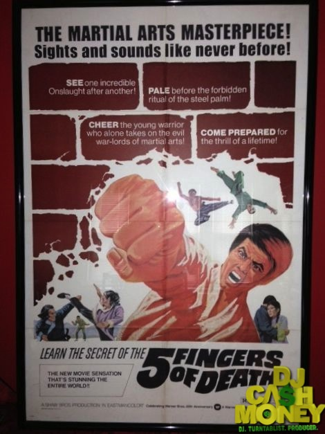 5 Fingers Of Death Original Kung Fu Poster