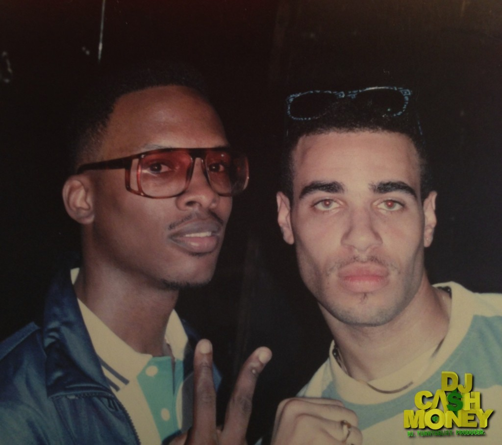 A young DJ Jazzy Jeff & DJ Cash Money