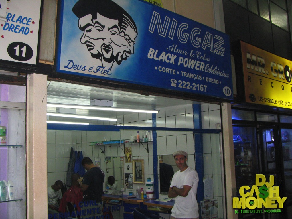 Barbershop in Sao Paulo,Brazil..I can't make this stuff up...Hahahaha