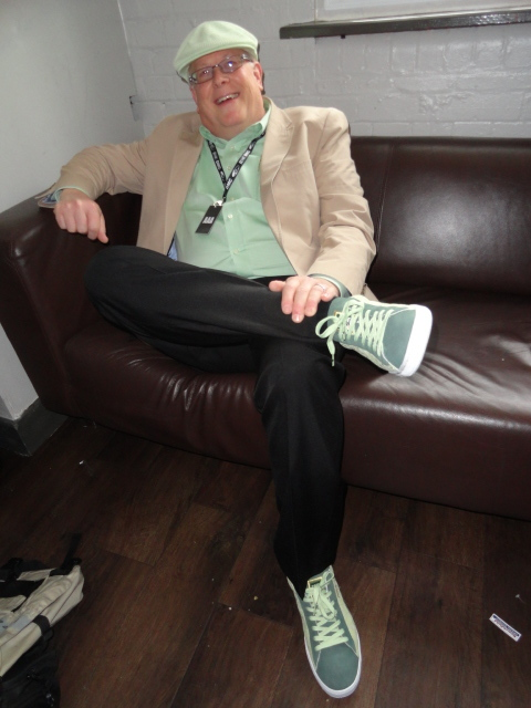Check Out Dean from Rane Corporation rocking the DJ Cash Money sneakers with green Kangol hat & shirt to match..Nice!!