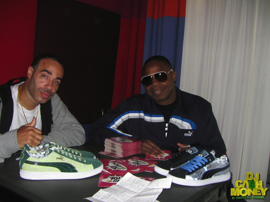 Me & Dougie Fresh doing press for our Puma sneakers