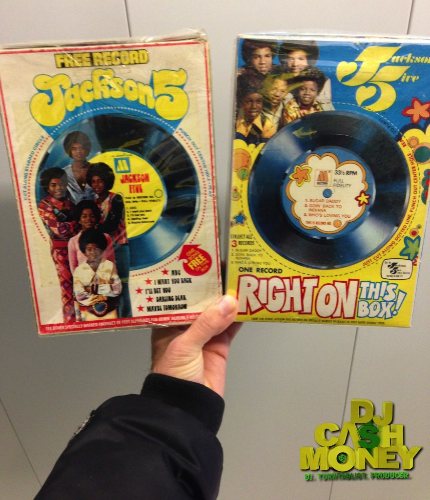 Original Jackson 5 Cereal Boxes (Back)