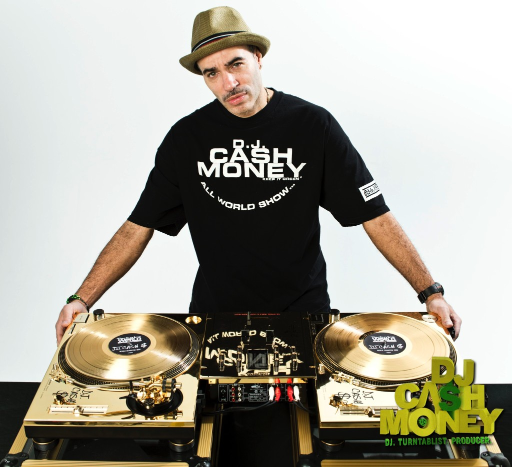 The Technics Golden Turntables & Mixer with engraved signature