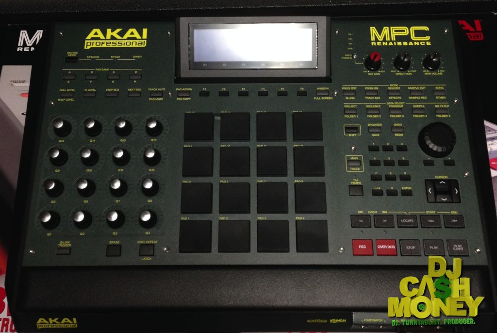 The custom made %22Keep It Green%22 MPC Renaissance Drum Machine