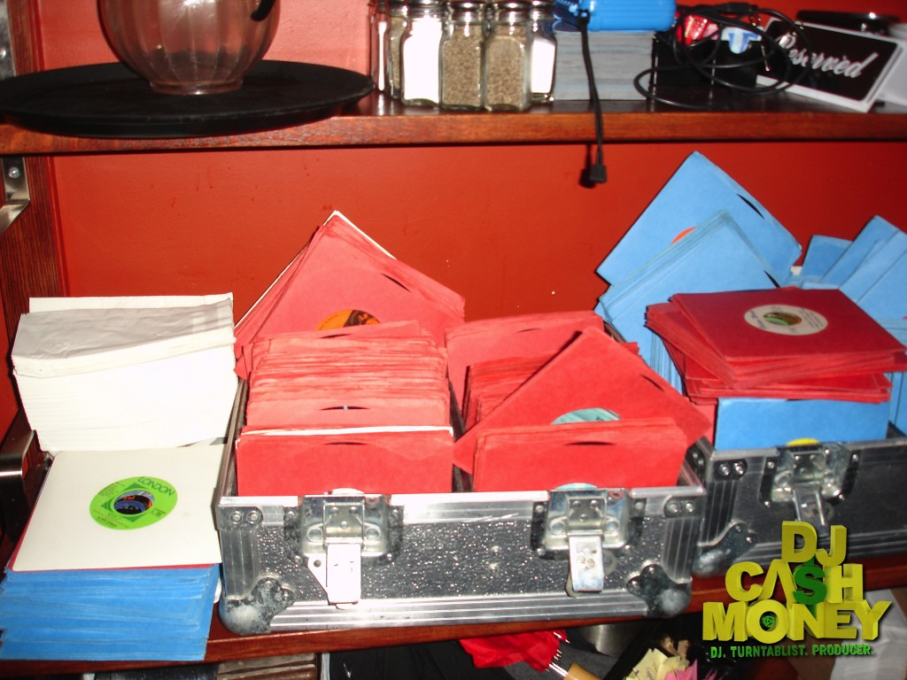 This is a beautiful mess..I have to put these 45's back in the case..SMH